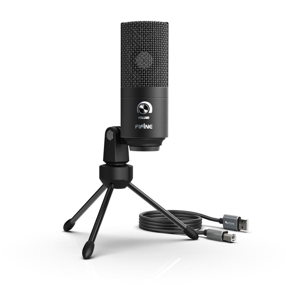 Студийный микрофон Fifine K680 черный