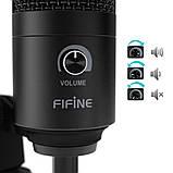 Студійний мікрофон Fifine K680 чорний, фото 4