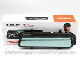 """Зеркало-видеорегистратор DVR E92 с двумя камерами сенсорный экран Full HD 1080P 10"""""""