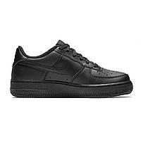 Мужские кроссовки Nike Air Force 1 Low Black Найк Аир Форс (Форсы черные)