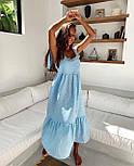 Сарафан миди женский льняной с завязками свободного кроя (в расцветках), фото 5