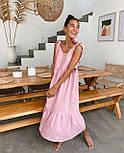 Сарафан миди женский льняной с завязками свободного кроя (в расцветках), фото 7