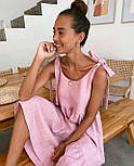 Сарафан миди женский льняной с завязками свободного кроя (в расцветках), фото 6