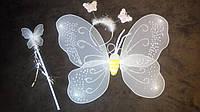 Крылья бабочки белые (+обруч и палочка)