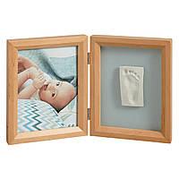 Набор детский для оттиска ручек и ножек Baby art Print Frame natural, фото 1