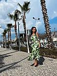 Сарафан миди женский льняной с рюшами (в расцветках), фото 5