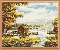 Картина раскраска MENGLEI Лодочная пристань (MG085) 40 х 50 см