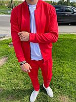 Красный мужской спортивный костюм без капюшона   Турция   100% полиэстер   бомбер + штаны