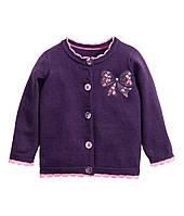 Детская вязаная кофта для девочки  6-9, 12-18 месяцев, 1,5-2 года