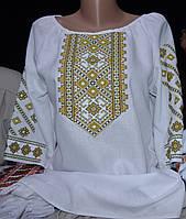 """Жіноча блузка вишиванка  """"Безкінечність"""" зелена"""