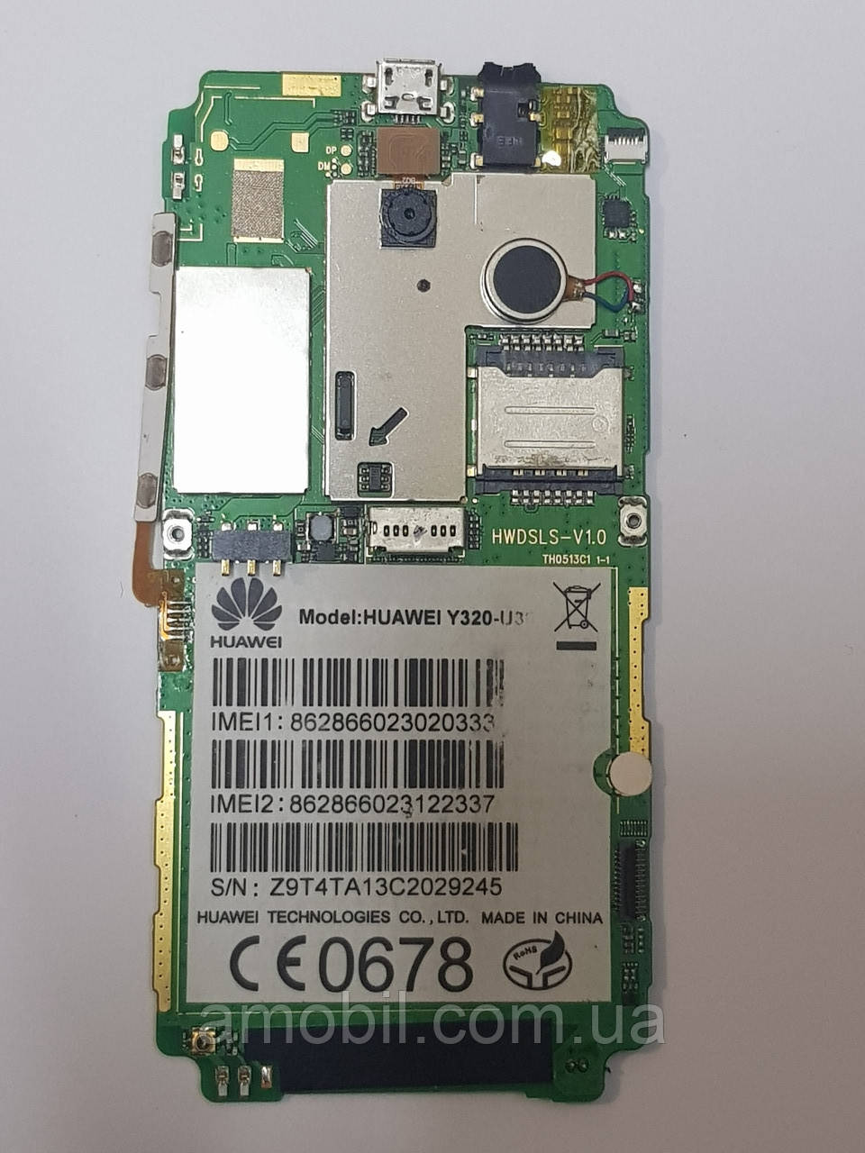 Материнская плата Huawei Y320 (Y320-U30) с камерами рабочая