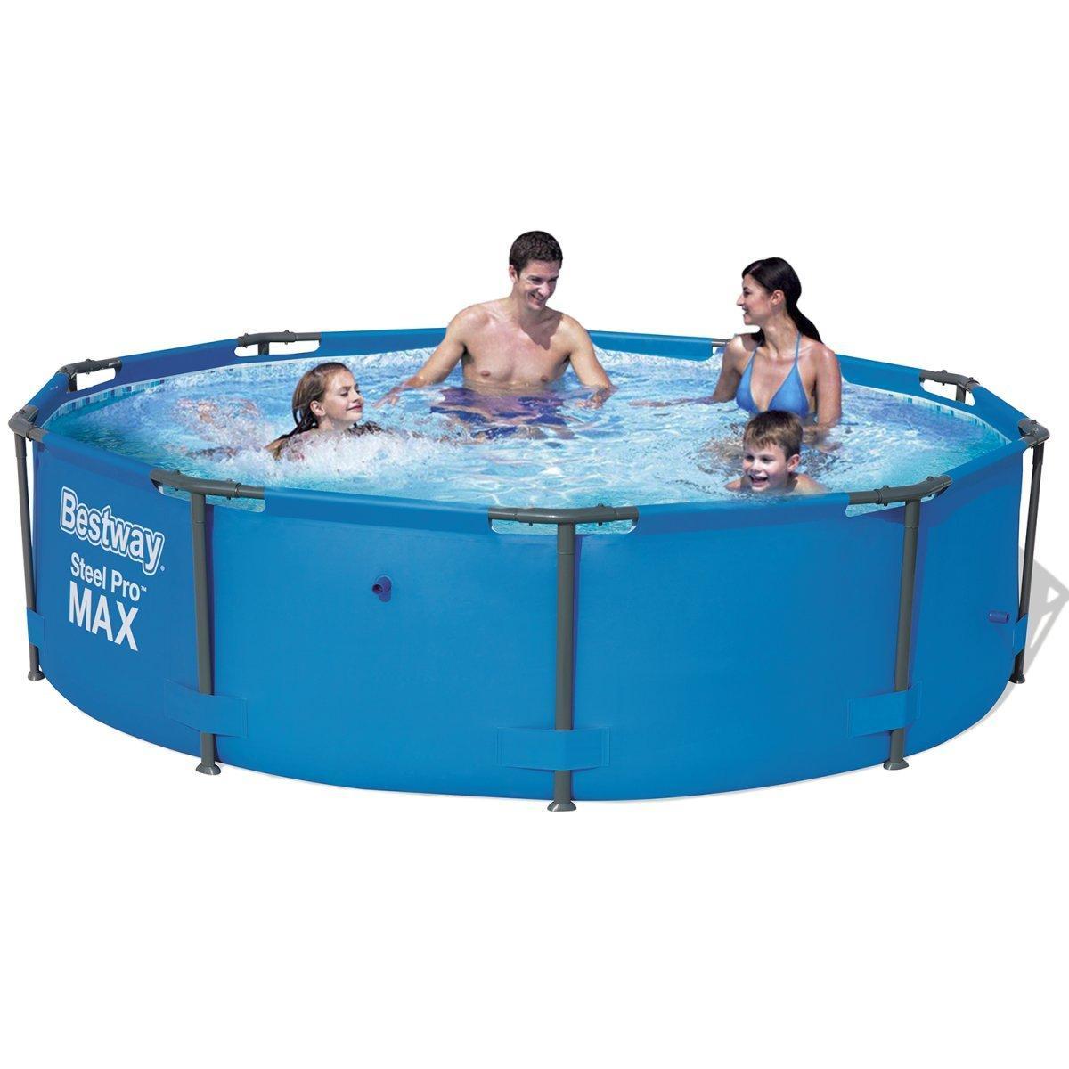 "Каркасный бассейн ""Steel Pro Max"" Bestway 56416 (366х76 см), насос"