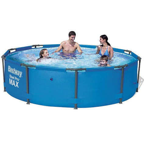 "Каркасный бассейн ""Steel Pro Max"" Bestway 56416 (366х76 см), насос, фото 2"