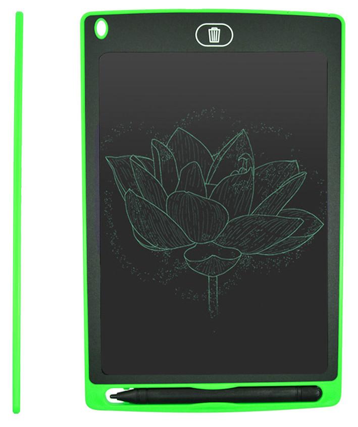 """Графічний планшет (дошка для малювання) 8.5"""" для малювання і заміток LCD Writing Tablet Зелений"""