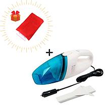 Автомобильный пылесос + подарок Перчатка для удаления льда