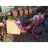 """Жіночий велосипед з заниженою рамою і багажником """"Супутник"""" 28"""" (ХВЗ) різні кольори, фото 1"""
