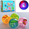 Прыгун водяной MS2578,свет,водяной мяч MS2578,попрыгунчик бабочки,светящиеся мячики