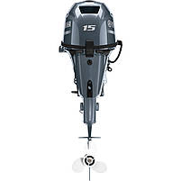 Лодочный мотор Yamaha F15CEL - подвесной мотор для яхт и рыбацких лодок, фото 2