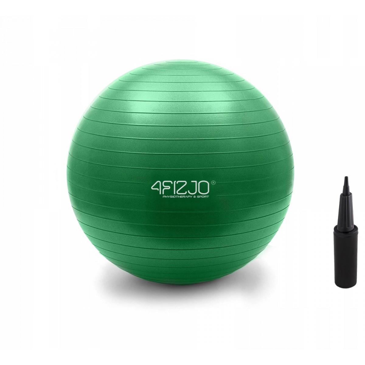 М'яч для фітнесу (фітбол) 4FIZJO 75 см Anti-Burst 4FJ0029 Green