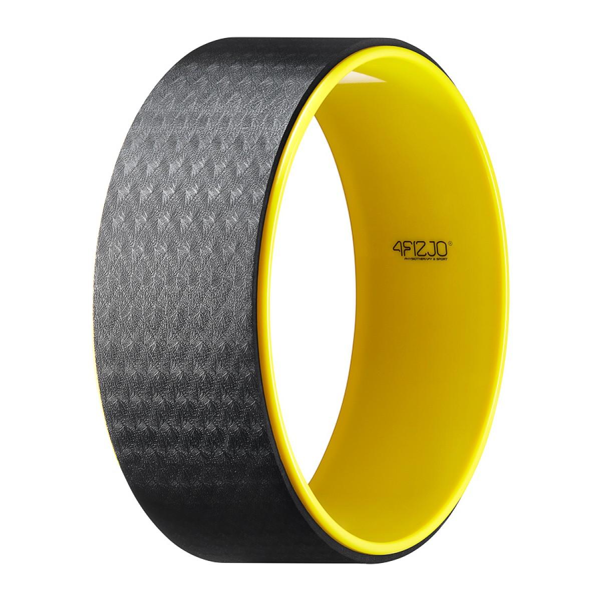 Колесо для йоги та фітнесу кільце коло 4FIZJO Dharma XXL Yellow 4FJ0131
