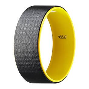 Колесо для йоги та фітнесу кільце коло 4FIZJO Dharma XXL Yellow 4FJ0131, фото 2