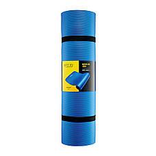 Коврик мат для йоги и фитнеса 4FIZJO NBR 1 см 4FJ0014 Blue, фото 3