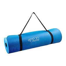Коврик мат для йоги и фитнеса 4FIZJO NBR 1 см 4FJ0014 Blue, фото 2