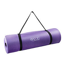 Коврик мат для йоги и фитнеса 4FIZJO NBR 1.5 см 4FJ0151 Violet, фото 3