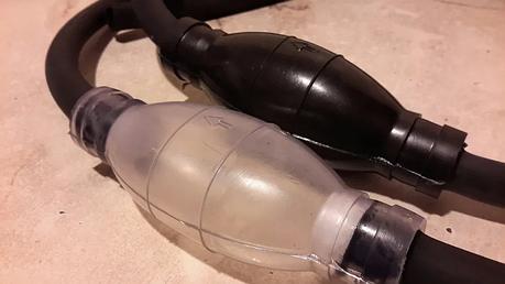 Ручной насос груша для перекачки топлива, жидкости шланг, фото 2