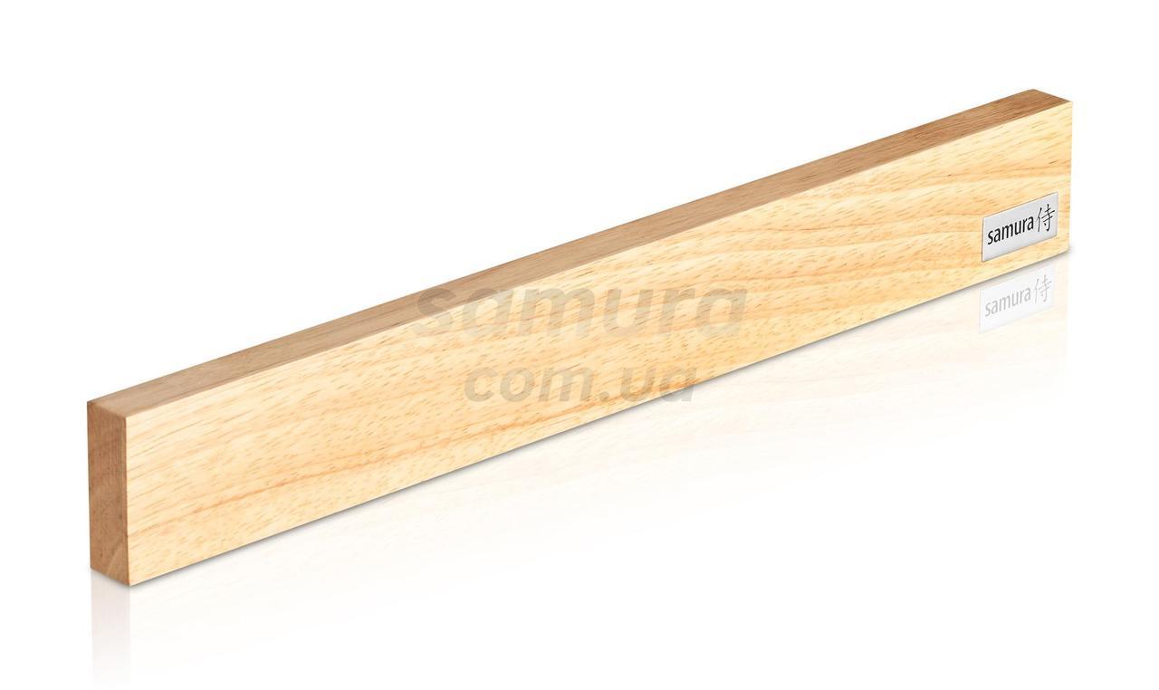 Тримач магнітний для кухонних ножів, деревянный, світлий, Samura (SMH-04L)