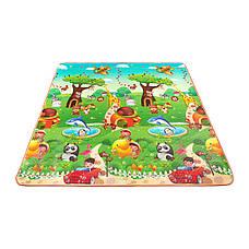 Розвиваючий дитячий килимок промокає двосторонній 4FIZJO KIDS 180 x 180 x 1 см, фото 2