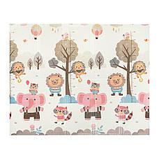 Развивающий детский коврик непромокающий двухсторонний 4FIZJO KIDS 200 x 155 x 1 см, фото 2
