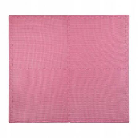 Мат пазл (ласточкин хвост) коврик татами 4FIZJO Mat Puzzle EVA 120 x 120 x 1 cм 4FJ0079 Pink, фото 2