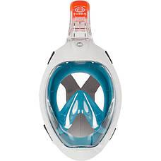 Маска полнолицевая Tribord Easybreath для подводного плавания (сноркелинга) SUBEA Синяя, фото 3