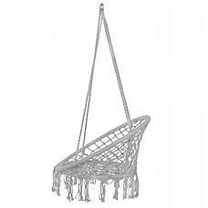Подвесное кресло-качели (плетеное) Springos SPR0011 Grey, фото 2