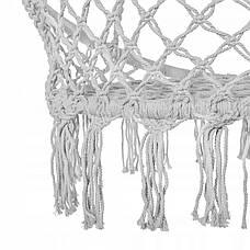 Подвесное кресло-качели (плетеное) Springos SPR0011 Grey, фото 3