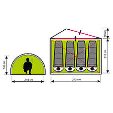 Палатка туристична чотиримісна SportVida 285 x 240 см SV-WS0021, фото 2