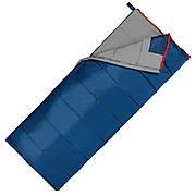 Спальный мешок (спальник) одеяло SportVida SV-CC0066 -3 ...+ 21°C R Blue/Grey (состегиваются)