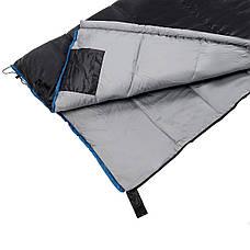 Спальний мішок (спальник) ковдра SportVida SV-CC0068 -3 ...+ 21°C R Black/Grey (состегиваются), фото 3