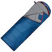 Спальный мешок (спальник) одеяло SportVida SV-CC0070 -3 ...+ 21°C R Blue/Grey (состегиваются)