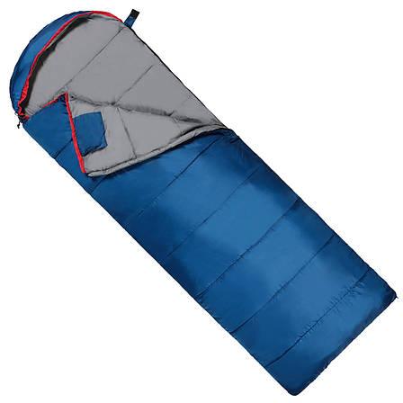 Спальный мешок (спальник) одеяло SportVida SV-CC0071 -3 ...+ 21°C L Blue/Grey, фото 2