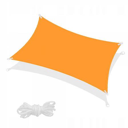 Тент-парус тіньової для дому, саду та туризму Springos 4 x 3 м SN1035 Orange (тент накриття), фото 2