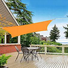 Тент-парус тіньової для дому, саду та туризму Springos 4 x 3 м SN1035 Orange (тент накриття), фото 3