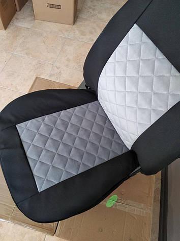 Майки на передние сидения МАХ алькантара комплект 1+1 серый светлый, фото 2