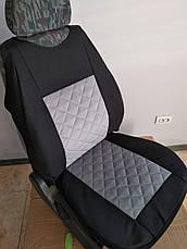 Майки на передние сидения МАХ алькантара комплект 1+1 серый светлый, фото 3