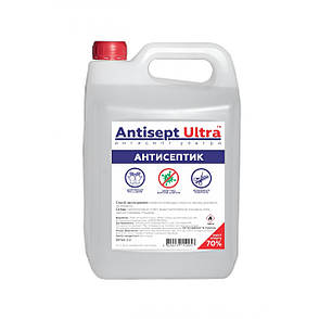 Антисептик для рук и поверхностей Antisept ULTRA (70% спирта) 5 л, фото 2