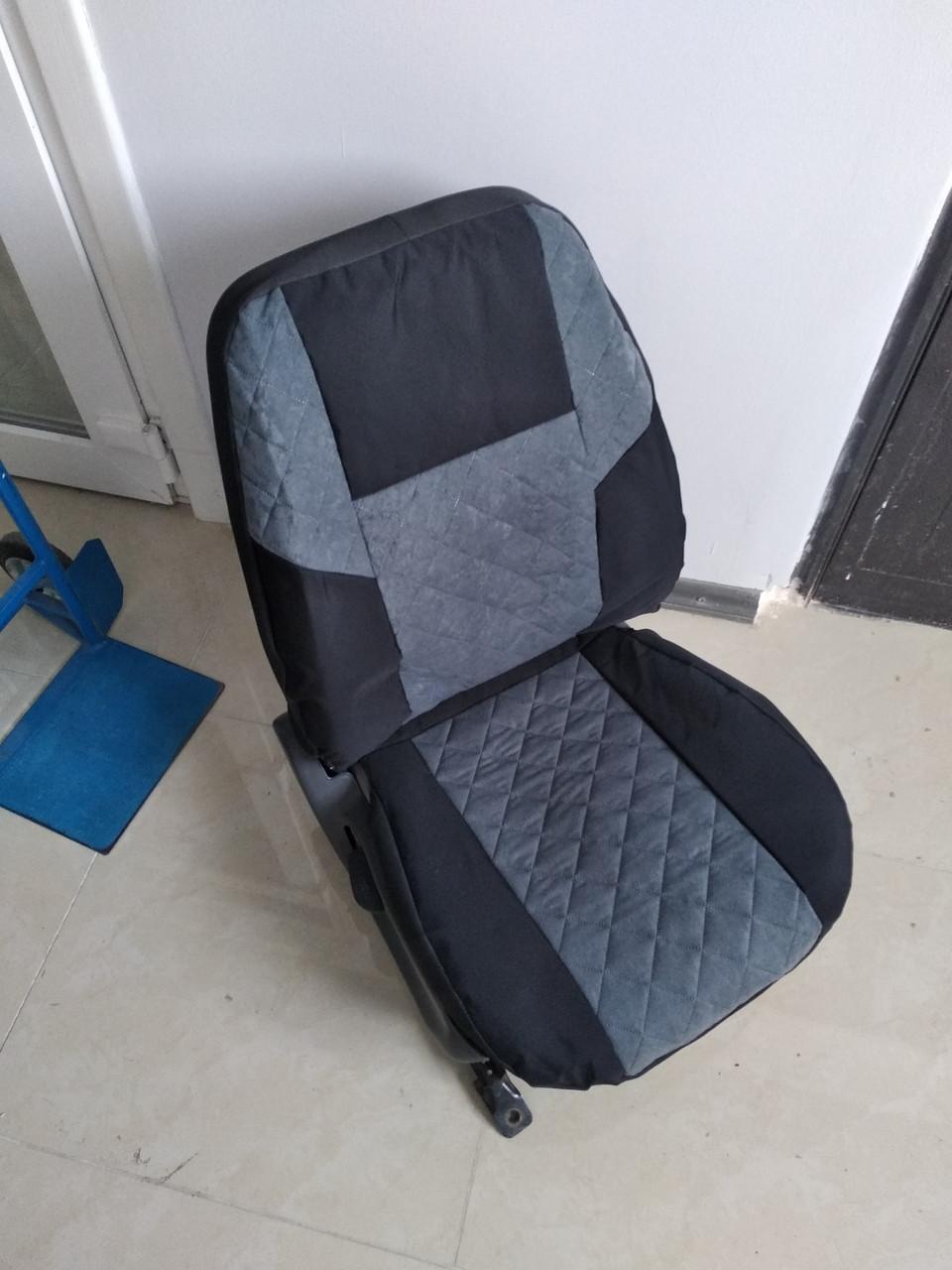 Чехлы на сиденья авто универсальные MAX алькантара Передние 2шт Серый