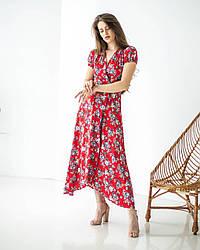 Сукня жіноча з принтом із штапелю