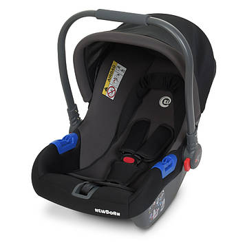 Детское автокресло с переносной ручкой Автокресло группа 0+, от 0 до 13 кг, Бебикокон Серое детское автокресло