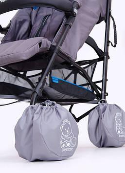 Чехлы на колеса прогулочных колясок Чехлы на колеса для колясок-тростей Чехлы на колеса диаметром 15-19 см